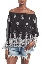 Women's Wayf Embroidered Off The Shoulder Top