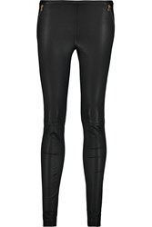 Emilio Pucci Stretch Leather Leggings Black