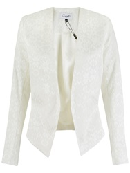 Closet Diamond Jacquard Cropped Jacket White