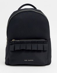 Ted Baker Resse Ruffle Detail Backpack Black