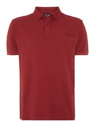 Army And Navy North Pique Polo Shirt Burgundy