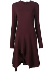 Givenchy Flared Cocktail Dress Pink And Purple