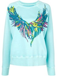 Zadig And Voltaire Overdyed Wings Sweatshirt Blue