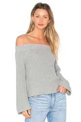 525 America Off The Shoulder Sweater Gray