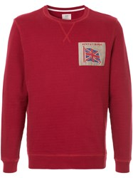 Kent And Curwen Embroidered Flag Sweatshirt