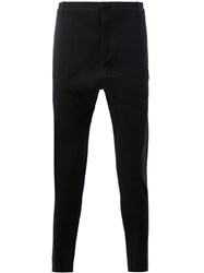 Label Under Construction Slim Fit Tailored Trousers Men Cotton Virgin Wool 52 Black