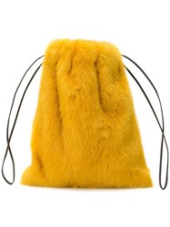 Simonetta Ravizza Furrissima Mini Backpack Yellow And Orange