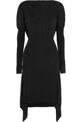 Vivienne Westwood Beverly Wrap Effect Ribbed Knit Dress Black