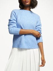Great Plains Crew Neck Knit Jumper Blue Chambray