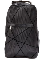 Numero 10 Textured Backpack Leather Black