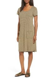 Eileen Fisher Women's Hemp Blend Stripe T Shirt Dress