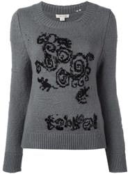 Marc Jacobs Distressed Knit Jumper Grey