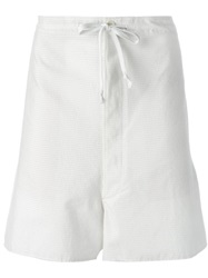 Ann Demeulemeester 'Curious' Drawstring Shorts White