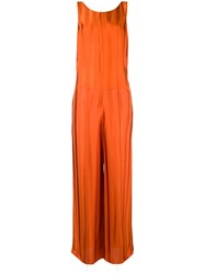 Golden Goose Deluxe Brand Contrasting Stripped Jumpsuit Yellow And Orange