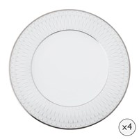 Amara Prism Porcelain Dinner Plates Set Of 4