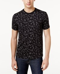 Armani Exchange Men's Graphic Print T Shirt Black