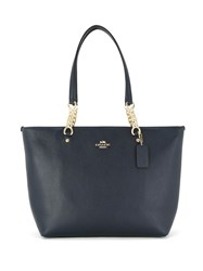 Coach 36600 Linav Leather Fur Exotic Skins Leather Blue