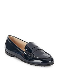 Tod's Leather Penny Loafers Black