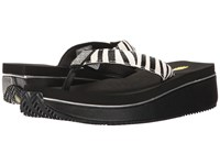 Volatile Devri Black White Zebra Women's Wedge Shoes