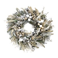 Mackenzie Childs Silver Lining Wreath Small