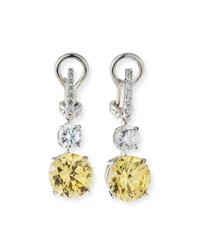 Fantasia Canary Clear Cubic Zirconia Drop Earrings Clear Canary