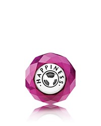 Pandora Design Charm Sterling Silver And Glass Happiness Essence Collection Pink Silver