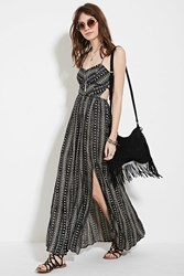 Forever 21 Crisscross High Slit Maxi Dress