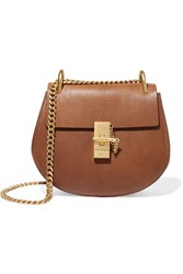 Chloe Drew Small Textured Leather Shoulder Bag Brown
