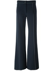 Christophe Lemaire Flared Pants Blue