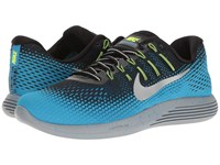 Nike Lunarglide 8 Shield Black Metallic Silver Blue Glow Stealth Men's Running Shoes