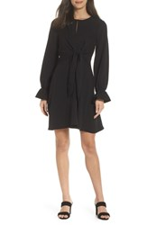 Sam Edelman Tie Knot Fit And Flare Dress Black