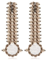 Lucia Odescalchi Chapter Two Chain And Quartz Earrings