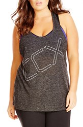 Plus Size Women's City Chic 'Ccx' Graphic Racerback Tank