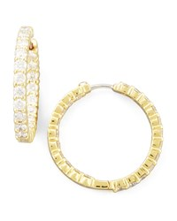 35Mm Yellow Gold Diamond Hoop Earrings 3.43Ct Roberto Coin Red