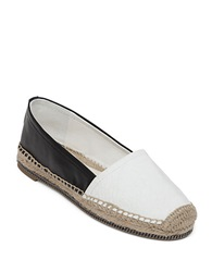 Bcbgeneration Fresno Embossed Colorblock Flats White