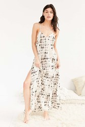 Out From Under Tie Dyed Maxi Slip Grey Multi