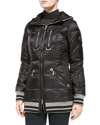 Bogner Muria Striped Trim Puffer Jacket Black
