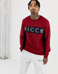 Nicce London Sweatshirt In Red With Chest Logo