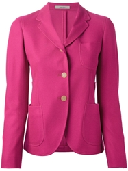 Boglioli Buttoned Blazer Pink And Purple