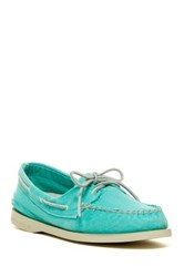 Sperry Authentic Original Washed Canvas Boat Shoe Blue