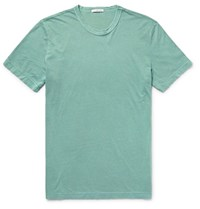 James Perse Combed Cotton Jersey T Shirt Gray Green