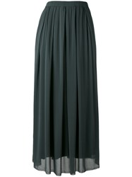 Kristensen Du Nord Gathered Skirt Women Silk Cotton Spandex Elastane 2 Grey
