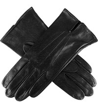 Dents Peccary Effect Leather Gloves Black