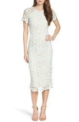 Shoshanna Women's Beaux Lace Midi Dress