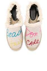 Rebecca Minkoff Baylee Beach Hair Dont Care Espadrille Beige