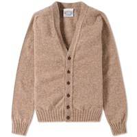 Jamiesons Of Shetland Jamieson's V Neck Cardigan Neutrals