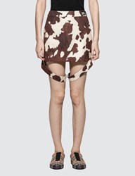Burberry Animal Printed Mini Skirt
