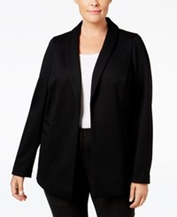 Alfani Plus Size Open Front Blazer Only At Macy's Deep Black