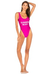 Private Party Summer Body One Piece Swimsuit Pink