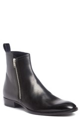Saint Laurent Men's Wyatt Side Zip Boot Nero Leather